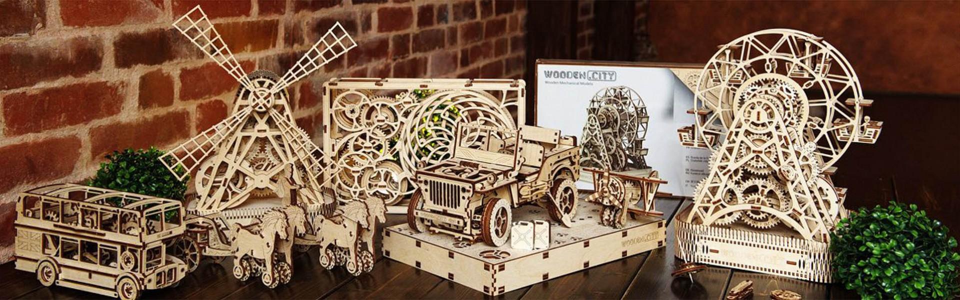 houten bouwpakketten van wooden city